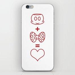 Mickey loves Minnie iPhone Skin