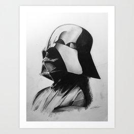 Darth Vader Drawing Print Art Print