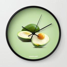 Eggplant B Wall Clock