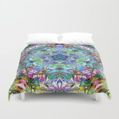 Five Points of Color Abstract Duvet Cover