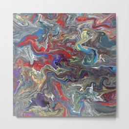 Abstract Oil Painting 28 Metal Print