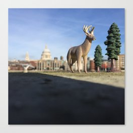 The Stag + The Thames Canvas Print