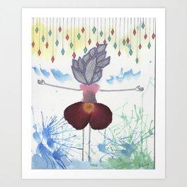 Flower Enamored  Art Print