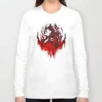werewolf Long Sleeve T-shirts featuring Werewolf by Kivapo