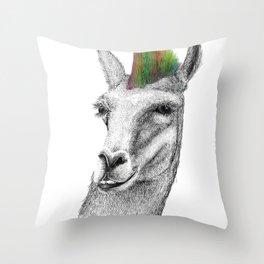 Llamahawk Throw Pillow