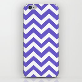 Slate blue - blue color - Zigzag Chevron Pattern iPhone Skin