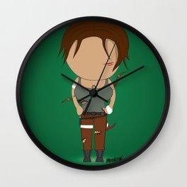Minimalist lara croft Wall Clock