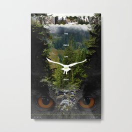 Twin Peaks :: The Owls Are Not What They Seem Metal Print