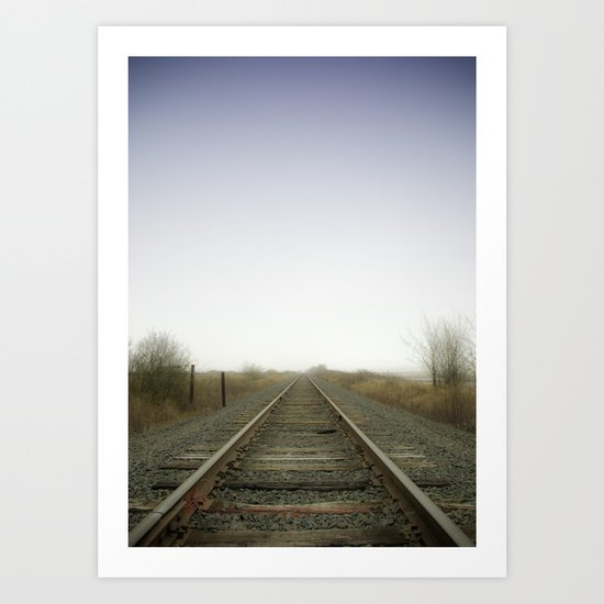 Stay on the path Art Print