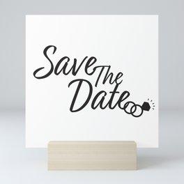 Save the date, Wedding date design Mini Art Print