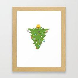 Upside Down Christmas Tree Xmas Framed Art Print