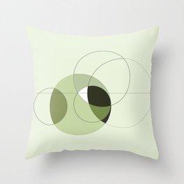 Elegant Circular Geometry Throw Pillow