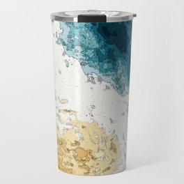 Satellite generative illustration Travel Mug