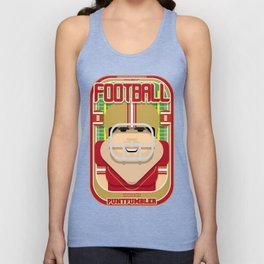 American Football Red and Gold - Enzone Puntfumbler - Victor version Unisex Tank Top