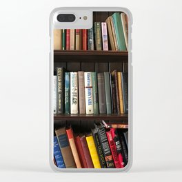 The Bookshelf in the Library Clear iPhone Case