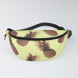 Pineapple Pattern - Tropical Pattern - Summer- Pineapple Wall Art - Brown, Beige - Minimal Fanny Pack