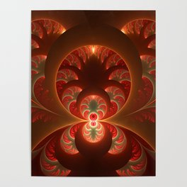 Fractal Mysterious, Warm Colors Are Shining Poster