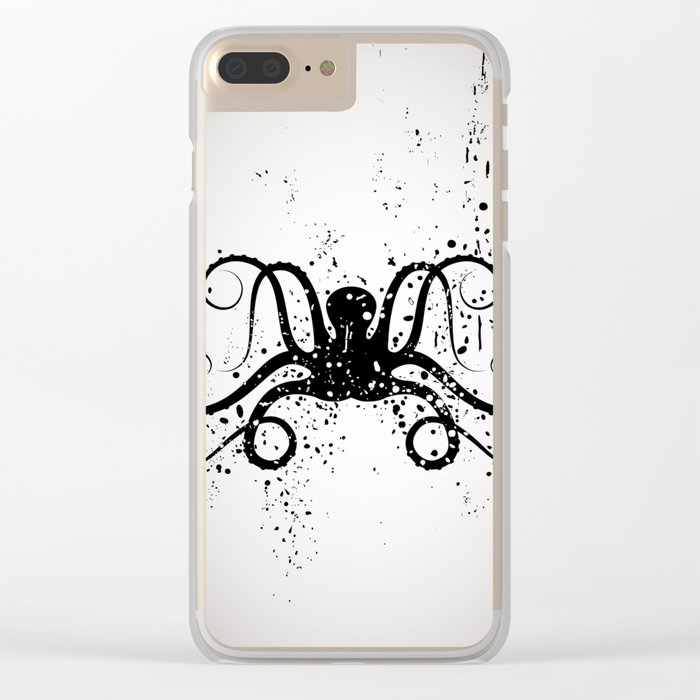 Octous black and white Clear iPhone Case