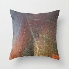Textured leaf Throw Pillow