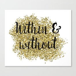 Within and without - golden jazz Canvas Print