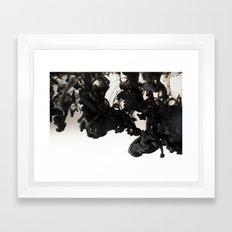 Ink #abstract #black Framed Art Print