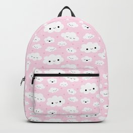 Happy Clouds - Pink Backpack