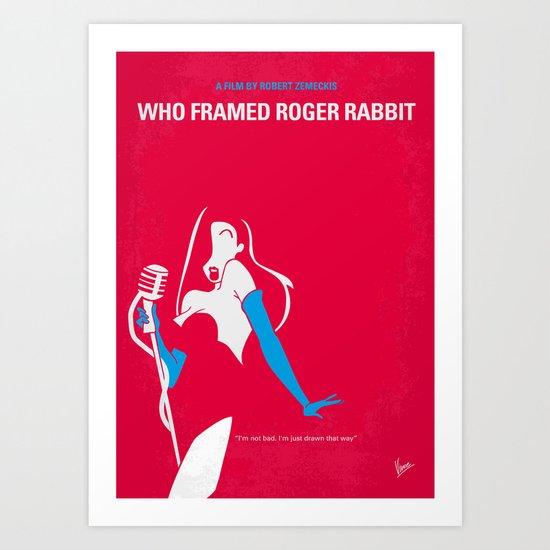 No271 My ROGER RABBIT minimal movie poster Art Print