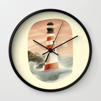 whale Wall Clocks featuring Whale by Seaside Spirit