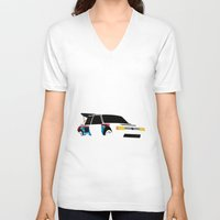 audi V-neck T-shirts featuring 205 T16 by Cale Funderburk
