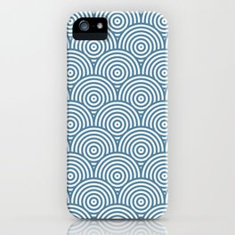 Scales - Blue & White #453 iPhone Case