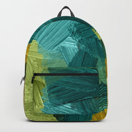 44   | Abstract Expressionism| 210210| Digital Abstract Art Textured Oil Painting Backpack