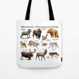 Mammals of Yellowstone Park Tote Bag