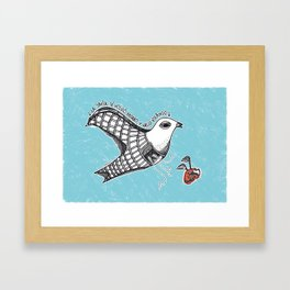 """La jaula se volvio pajaro"" Framed Art Print"