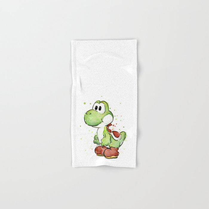 Yoshi Watercolor Mario Hand & Bath Towel