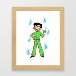 Green Punk Framed Art Print