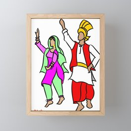 Punjabi couple 1 Framed Mini Art Print