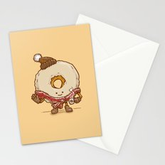 Bacon Scarf Maple Donut Stationery Cards