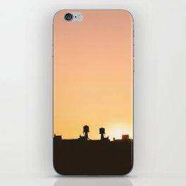 New York Water Towers Sunset iPhone Skin