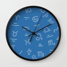 Zodiac blue Wall Clock