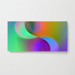 green lines -2- colorvariation Metal Print