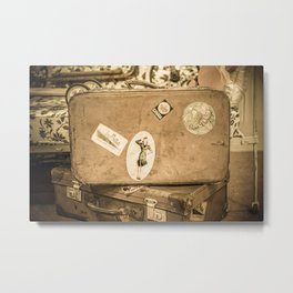 Retro Suitcase Metal Print