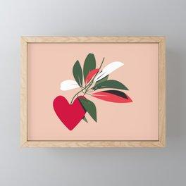 The Heart Plant - Red Framed Mini Art Print