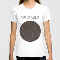 nan lawson T-shirts featuring There Is A Light by Nan Lawson