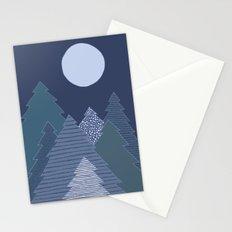 Magic Night Trees Stationery Cards
