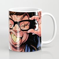 snl Mugs featuring Austin Power, Mike Myers, color by Patrick Dea