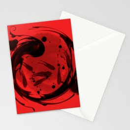 chinese feng shui redfish Stationery Cards