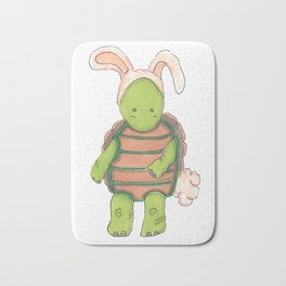 Cute Little Bunny Turtle Bath Mat
