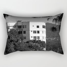 White Building Against the Hill (El Salvador) Rectangular Pillow
