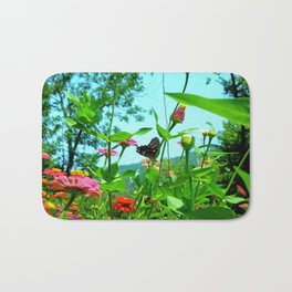 Butterfly with a View Bath Mat