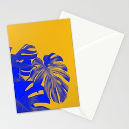 blue monsteras Stationery Cards